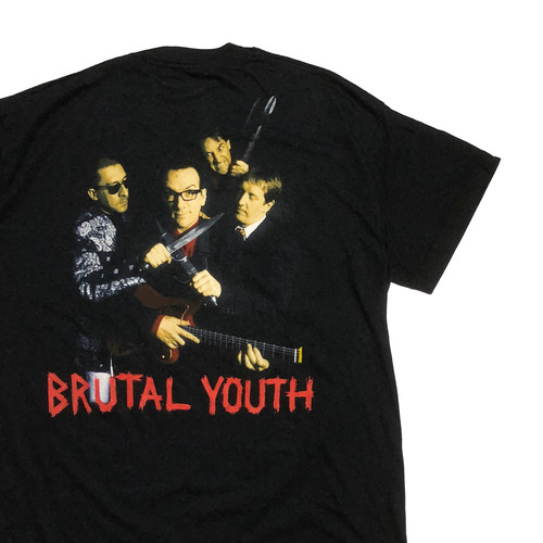"""90's アイルランド製 エルヴィス・コステロ """"BRUTAL YOUTH"""" Tシャツ"""
