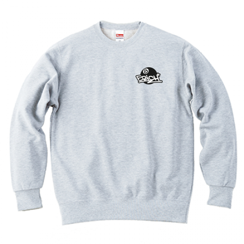 ERICH / ONEPOINT EIGHT-BALL LOGO CREWNECK SWEAT ASH