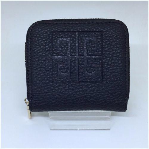 ミニ財布 シンプルなコインケース 小銭入れ ブラック 黒 レザー メンズ・レディース spab074