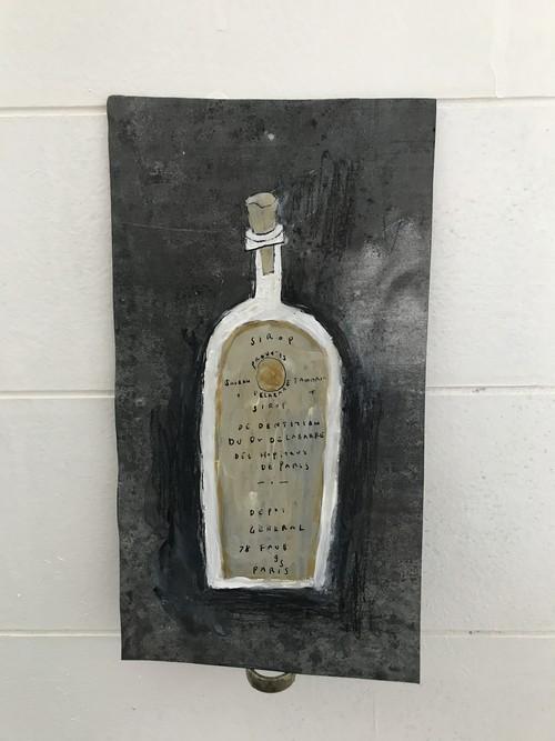 ボトル ブリキ絵