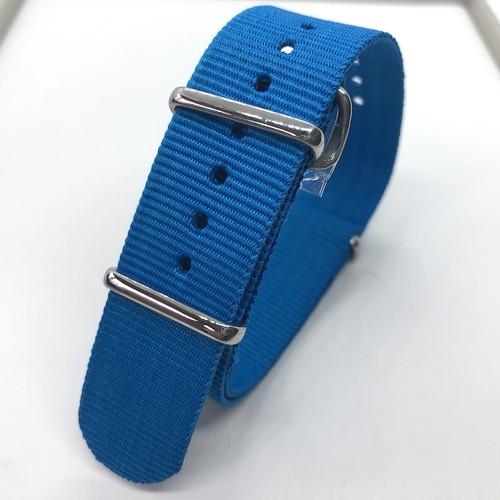 ネオンカラー NATOナイロンストラップ エレクトリック・ブルー 20mm 腕時計ベルト