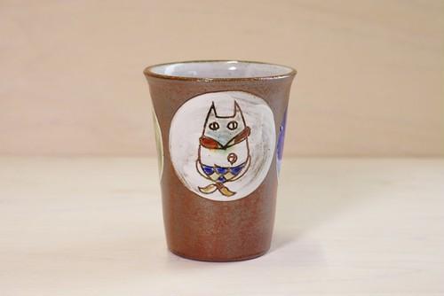 細身カップ【ぱっくん猫】