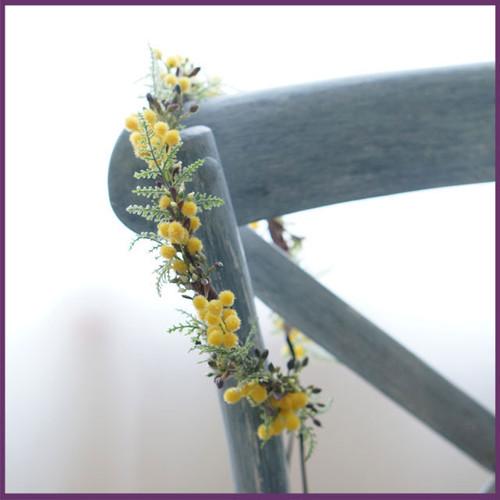 ミモザのナチュラル花冠