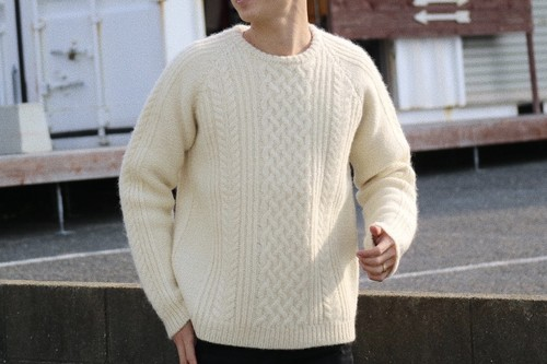 【1/15 21:00 販売開始】ThreeArrows Wool Knit (ivory)