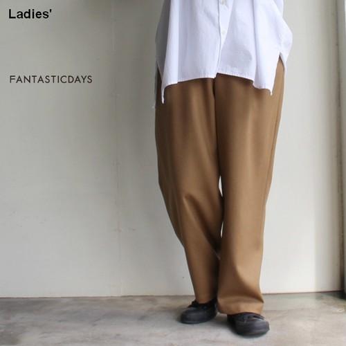 FANTASTICDAYS  2タックウールワイドパンツ 2PCROPPED-83-01 (CAMEL)