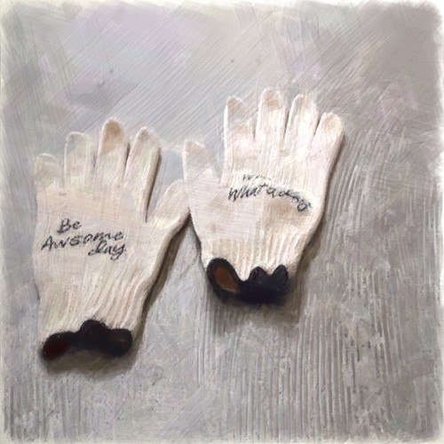 COTTON WORK GLOVES 2pair [GOOD&BAD]