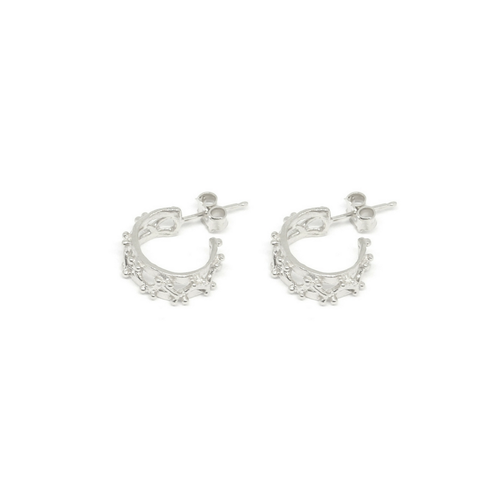 LITTLE BEAMS HOOP EARRINGS SILVER