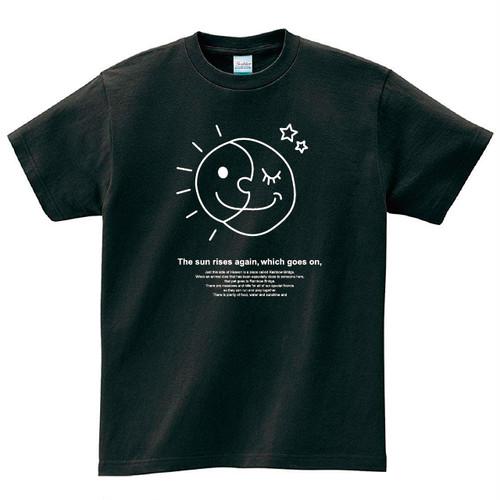 太陽と月 Tシャツ メンズ レディース 半袖 ピカソ シンプル ゆったり おしゃれ トップス 黒 30代 40代 ペアルック プレゼント 大きいサイズ 綿100% 160 S M L XL