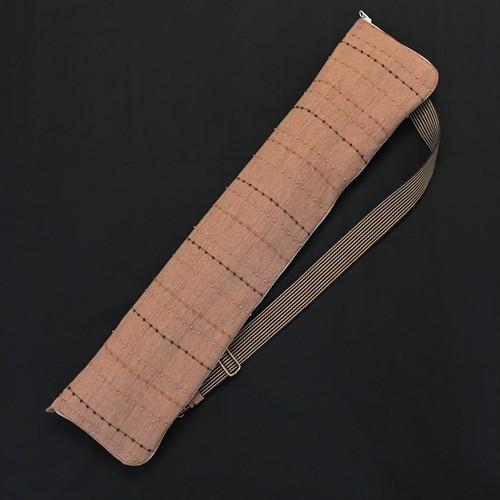 一品もの! 笛袋 全面開けるジッパータイプ 「GANKI」 笛8本入れ 小物入れポケット付き