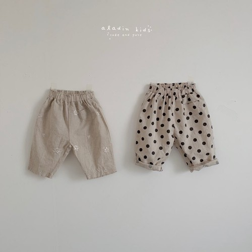 【予約販売】beige pants〈aladin kids〉