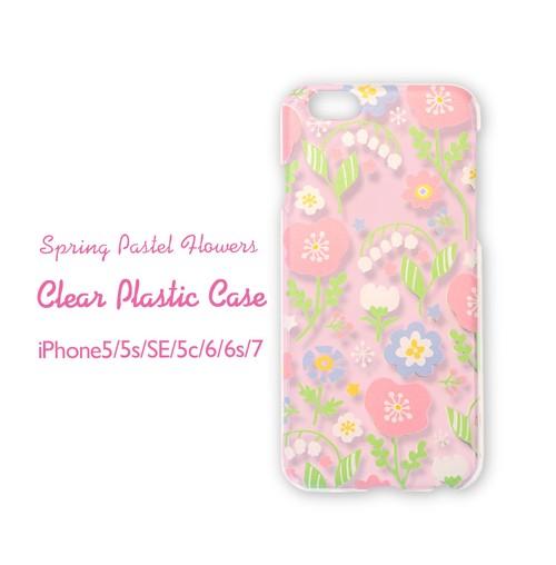 iPhoneハードケース<春待ちパステルフラワー*Pink>