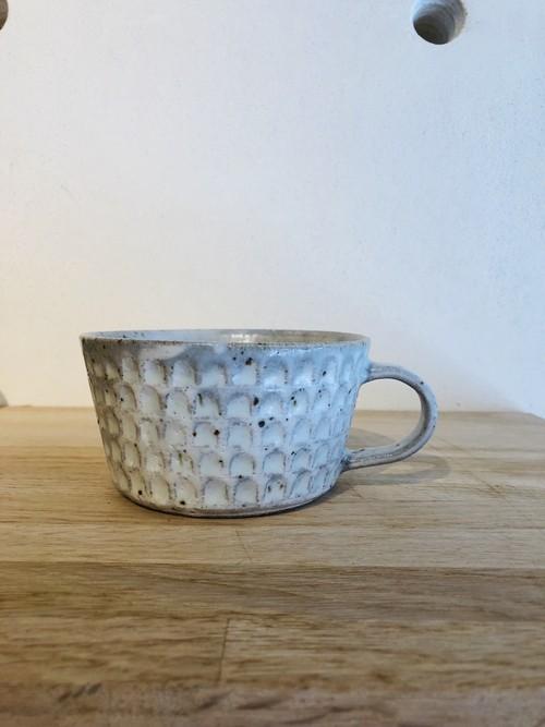 伊藤 豊 ブロックスープカップ(白)