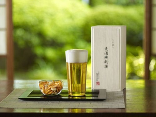 松徳硝子 うすはり タンブラーL&柿ピー小鉢セット (麦酒晩酌揃)