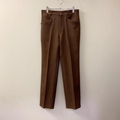 HAGGAR slacks ブラウン ポリエステル USA製 メンズ 古着