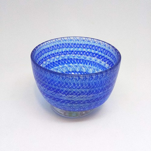 【core0002】小暮紀一作・コアガラス冷酒杯 Norikazu Kogure Core-formed glass cup for cold Sake