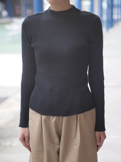 【DIARIES】Cotton Knit Rib High Neck Sweater