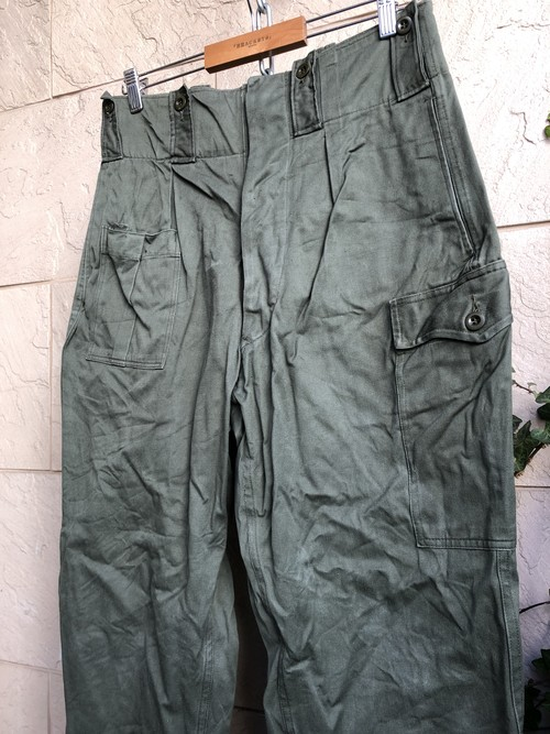 Used Belgium military trousers W31 L29.5