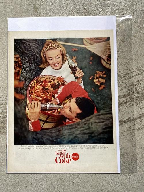 196 アメリカ USA ビンテージ チラシ 広告 切り抜き インテリア 50s 60s  LIFE Coca-Cola