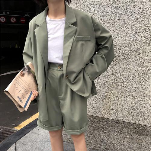 ジャケット パンツ 2ピース セットアップ 2カラー su1068