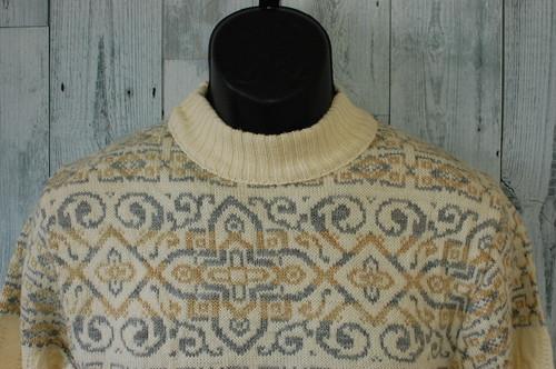 ノルディック柄ウールセーター