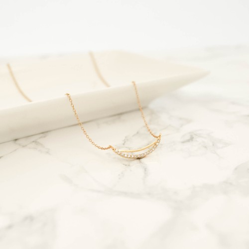 14kgf Bow Shape Necklace