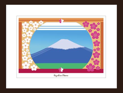 プリント額絵:大友和弘作「富士」