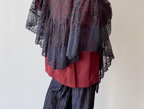 (PAL) flower lace cape