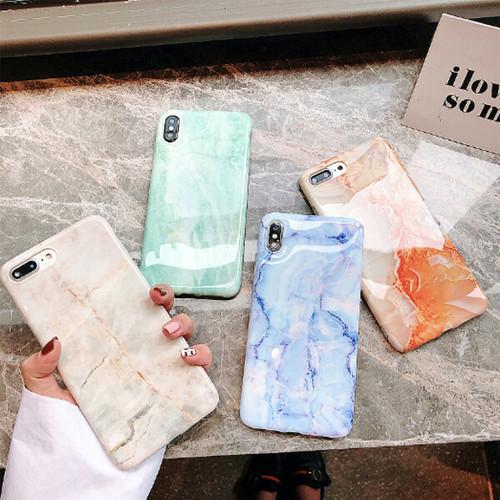 天然石風 iPhoneケース 4カラー i9018