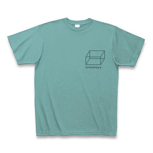 半袖Tシャツ <シンプルな胸元ロゴ&イラスト入り・ミント>