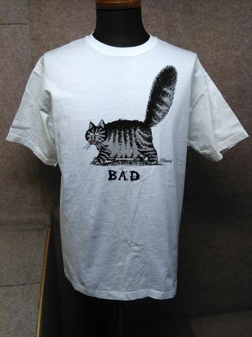 Hawaii ハワイ クリバンキャット Tシャツ BAD M 白 u1092c