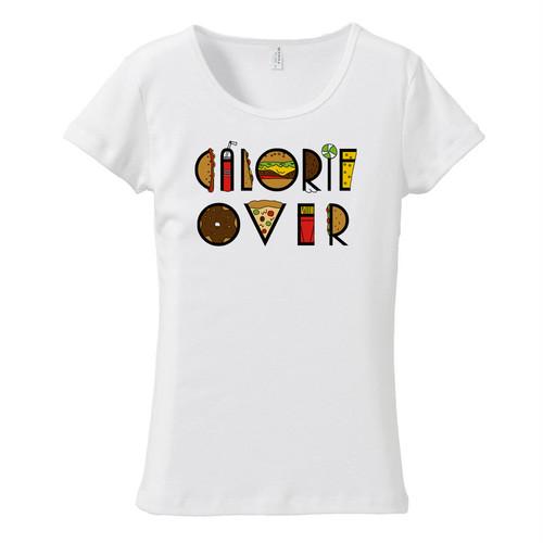 [レディースTシャツ] Calorie over taypo