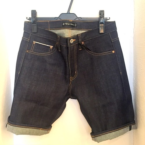 Selvage Denim Short Pants Dark Indigo