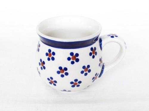 マグカップ[紺の小さなお花/64]