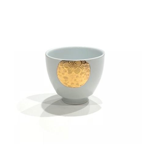 金彩丸紋梅  煎茶碗