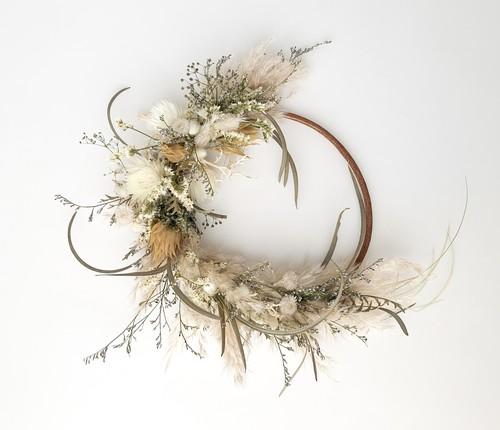 Pampas grass eucalyptus wreath