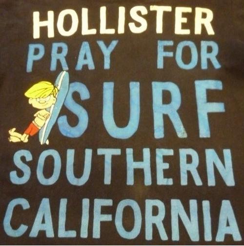 HOLLISTERの古着サーフ系Tシャツ (M) 【クリックポスト利用で送料無料】