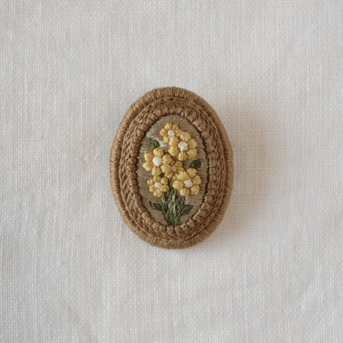 花の記憶ブローチ (M size)