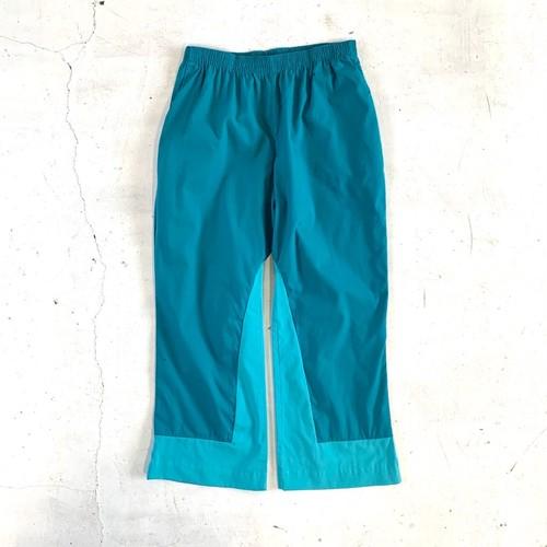 Cotton color wide pants / B