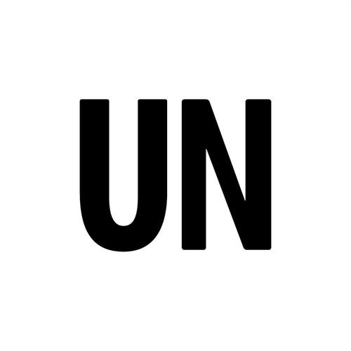 UNFUDGE / Cutting stickers / Design : UN / Color : white