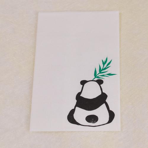 【木版画ぽち袋】笹パンダ