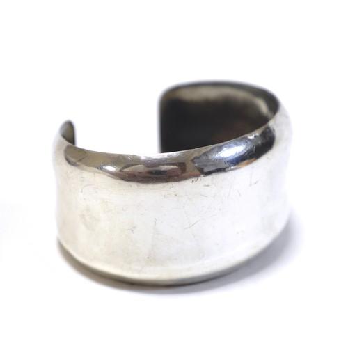 Navajo Vintage Sterling Silver Hammered Bangle by Elwood Reynolds