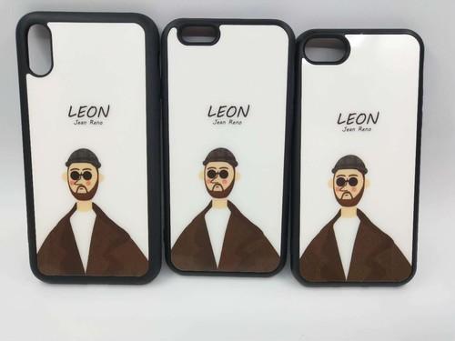 【LEON】アイフォーンケース iphoneケース case iPhoneカバー おしゃれ おそろい カップル 韓国 おもしろい 海外 かわいい かっこいい ソフトなボディ がんじょうきれい【iPhoneX用、レオン】