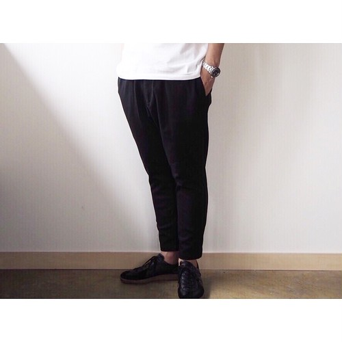 BASISBROEK(バジスブルック) 『BRAVO』Stretch Cotton Jersey Easy Tapered Pants