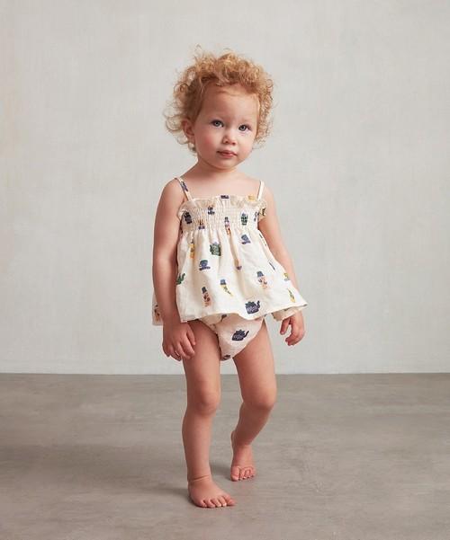 Oeuf Baby smock set /Gardenia