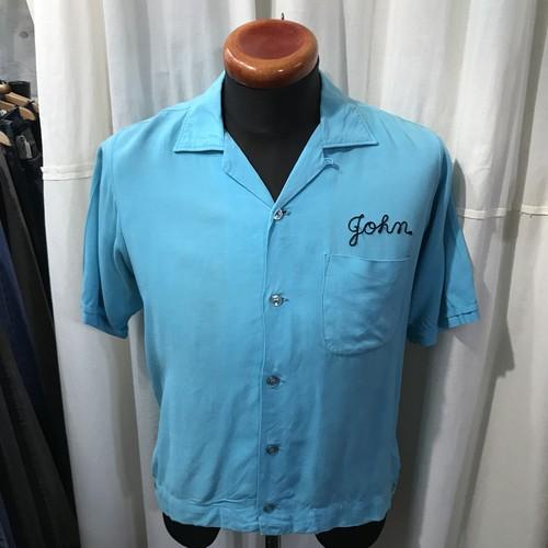 70's vintage 301 Betterthan Perfect ボウリングシャツ レーヨン メンズM