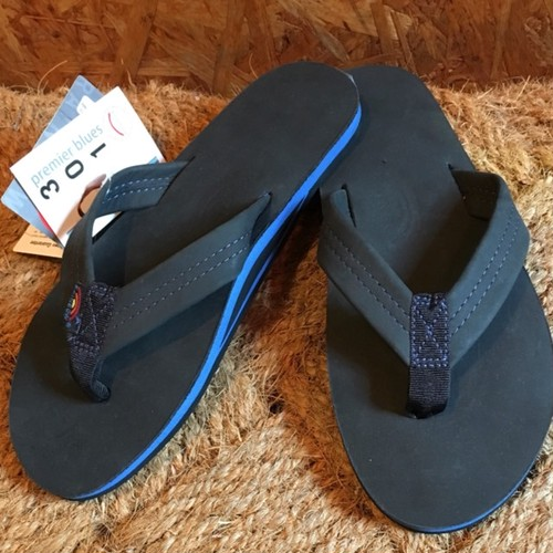 Rainbow Sandals*Men's*Premier Blue-Single Layer Black