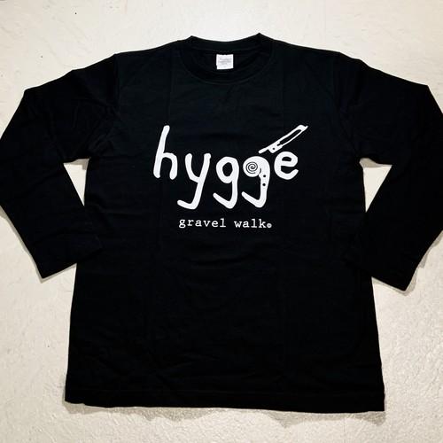【ロゴ大】ロングTシャツ Hygge ブラック