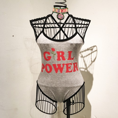GIRL POWER Bodysuit 2 / Gray