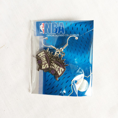 サクラメントキングス SACRAMENTO KINGS ピアス フックピアス  NBA 正規品 1357