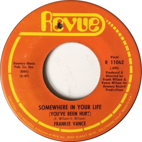 Frankie Vance ‎– Somewhere In Your Life (You've Been Hurt) / You Are My Solution